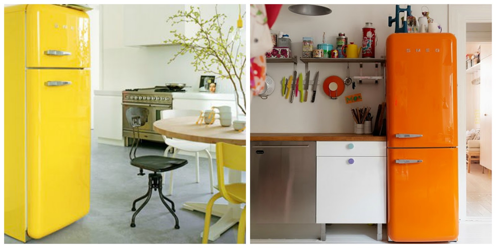 Chic deco smeg fridge piensa en chic - Cocinas retro vintage ...