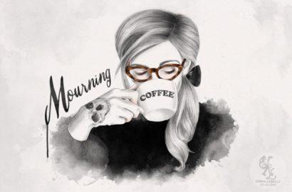Morning-coffee-fashionista-ilustraciones-de-moda-fashion-illustrator-Emma-Zanelli-nerdy-girl-PiensaenChic-Piensa-en-Chic