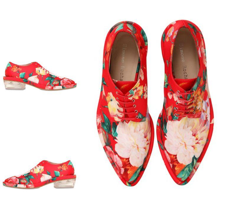 Simone-Rocha-derby-shoes-oxfords-de-flores-fashionista-moda-zapatos-red-shoes-luxury-style-PiensaenChic-Piensa-en-Chic