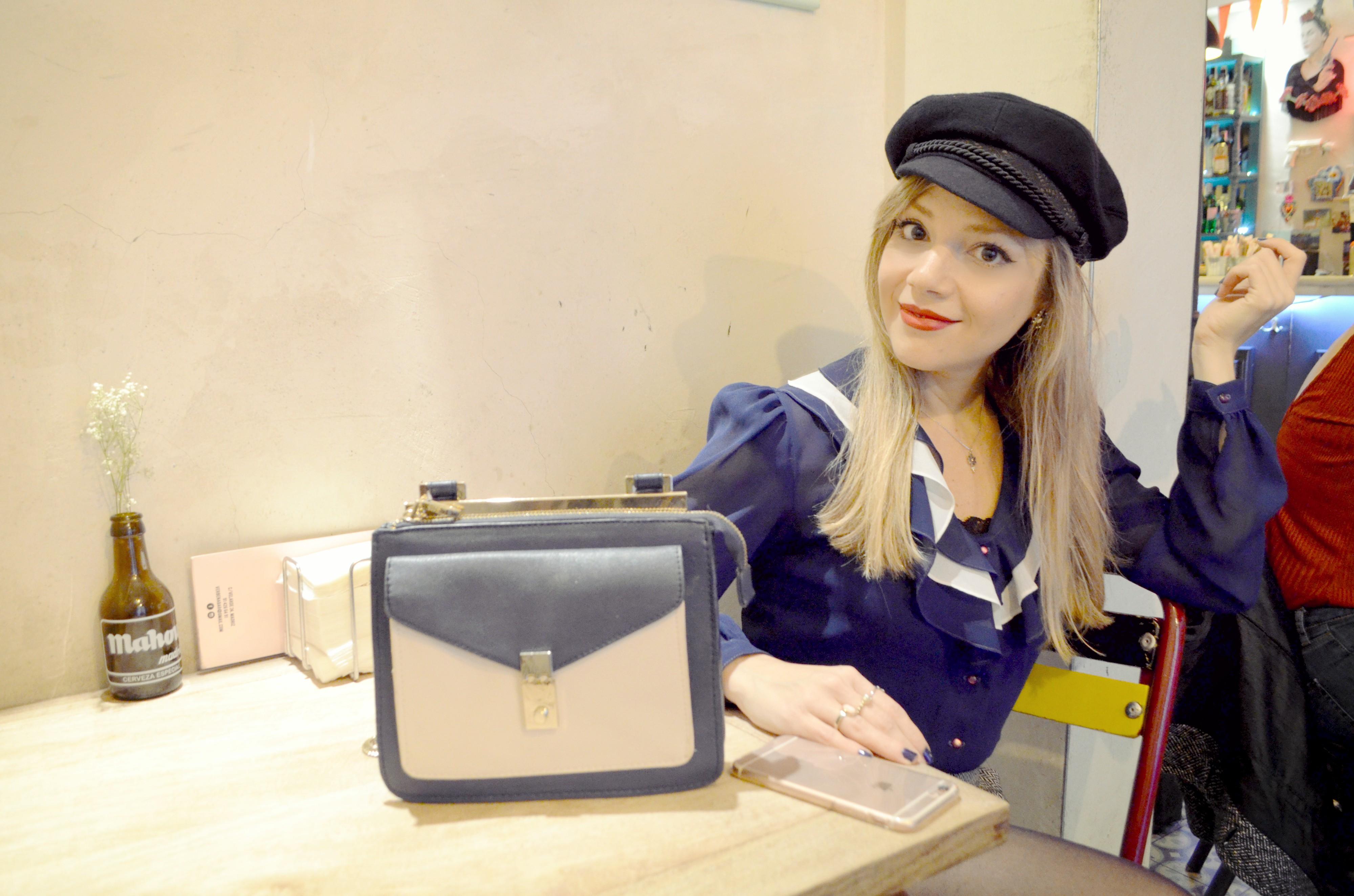 Sailor-look-ChicAdicta-outfit-marinero-blog-de-moda-Chic-Adicta-falda-pata-de-gallo-vintage-style-zara-bag-PiensaenChic-Piensa-en-Chic