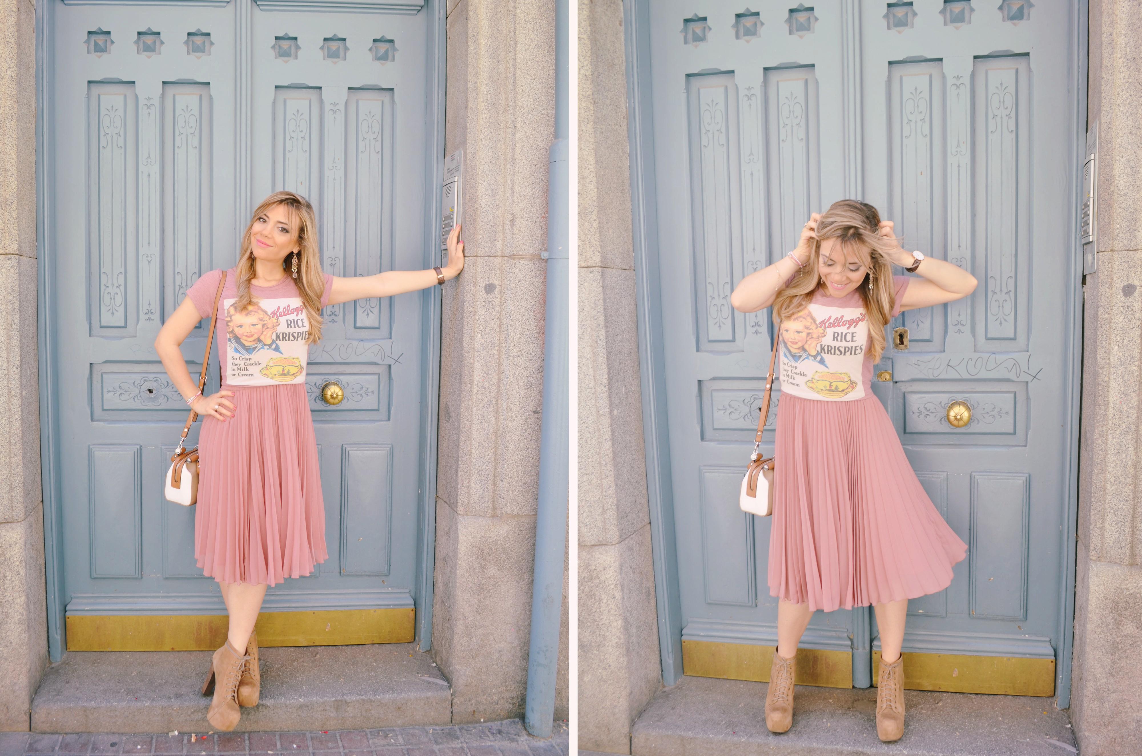 Look-con-falda-plizada-Rose-Quartz-outfit-fashionista-blog-de-moda-ChicAdicta-Chic-Adicta-jeffreycampbell-shoes-PiensaenChic-Piensa-en-Chic