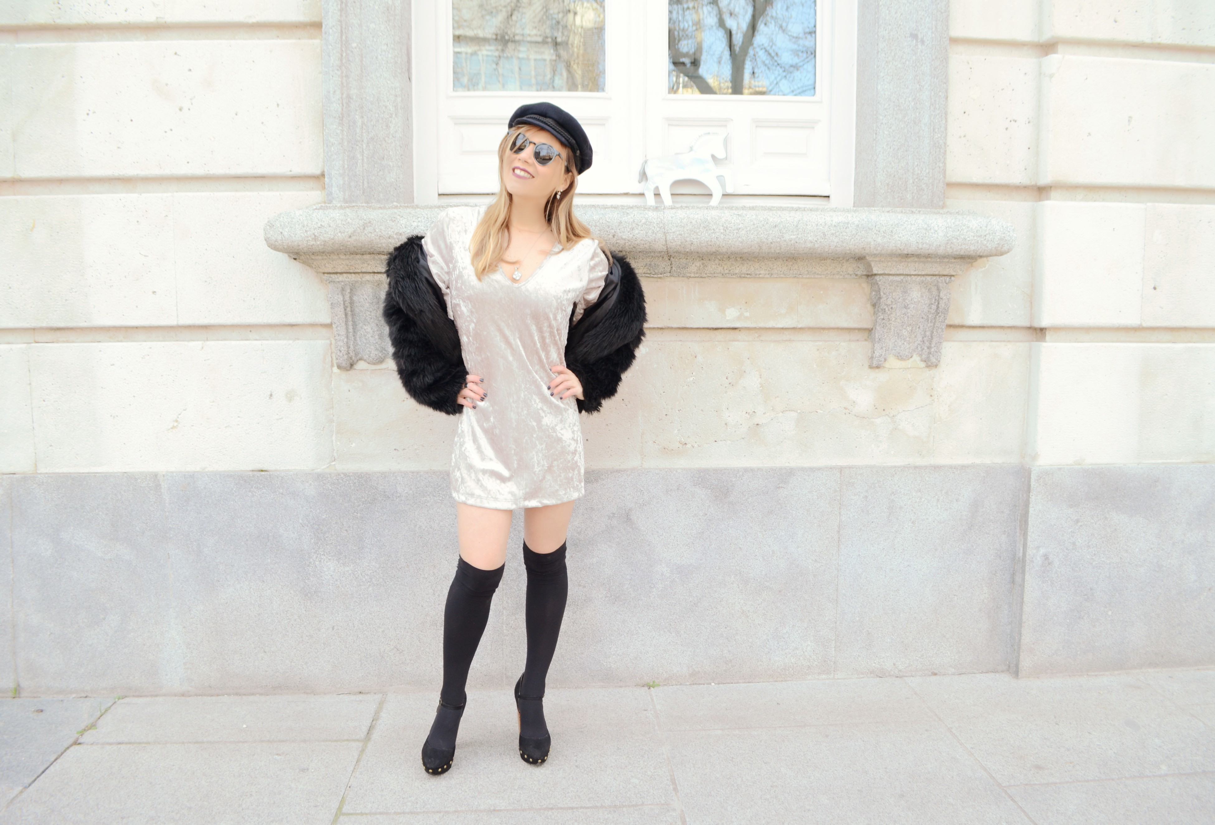 Vestido velvet piensa en chic - Madrid chic style ...