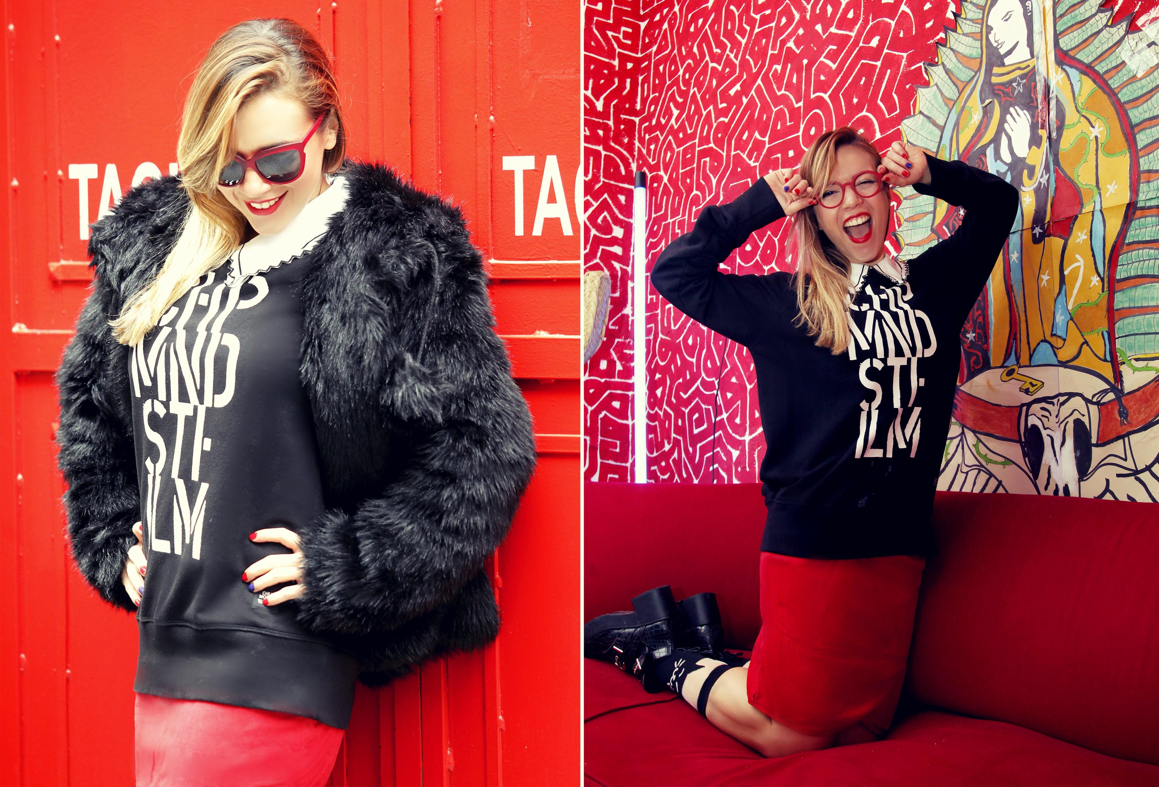 Blog-de-moda-ChicAdicta-fashionista-neubau-gafas-Chic-Adicta-vintage-style-red-look-sudaderas-CheapMonday-PiensaenChic-Piensa-en-Chic
