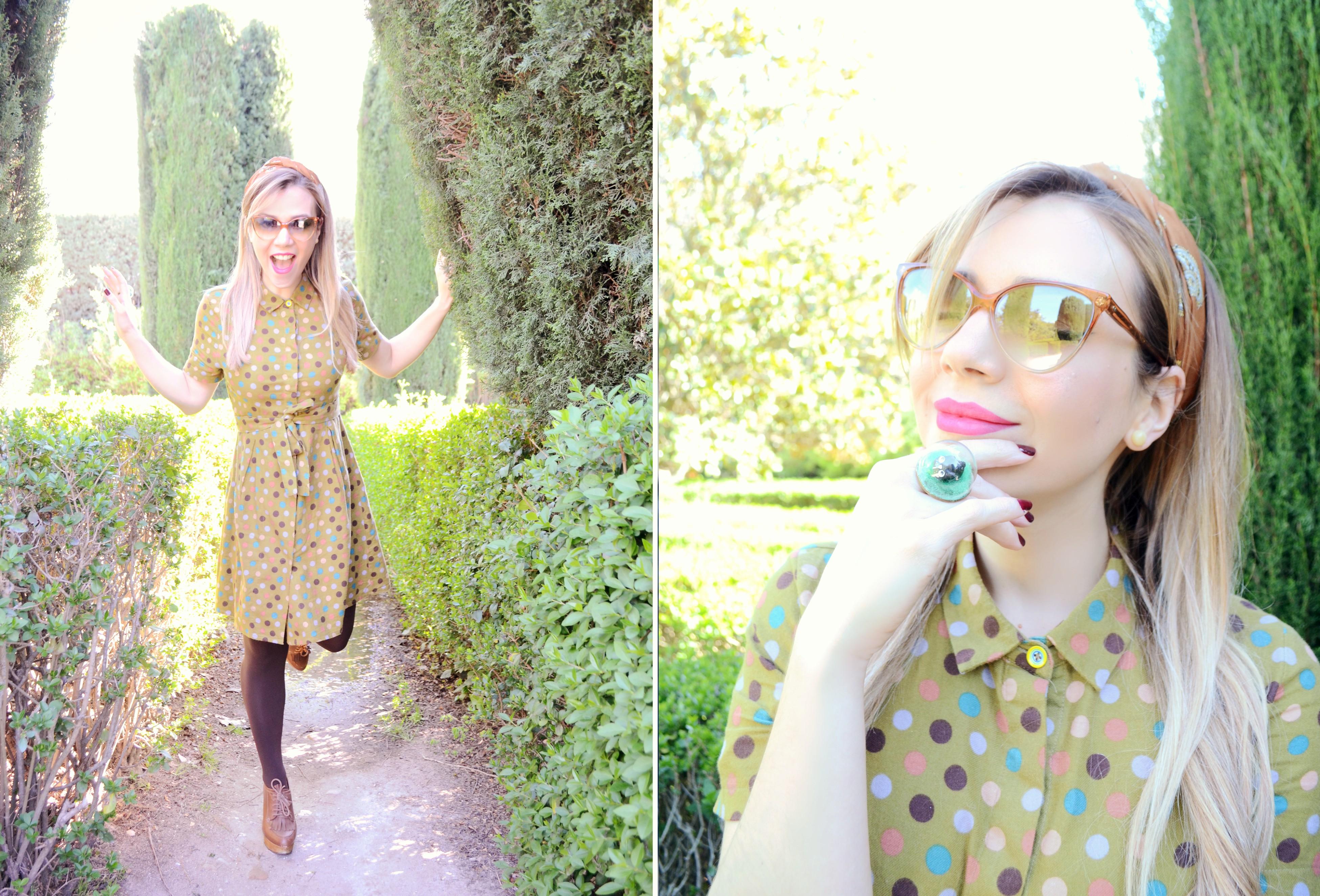 Fashionista-vestido-de-lunares-influencer-Madrid-ChicAdicta-blog-de-moda-Chic-Adicta-polkadot-dress-PiensaenChic-Piensa-en-Chic