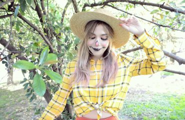 Blog-de-moda-Disfraces-para-halloween-Urvan-beauty-on-the-go-ChicAdicta-influencer-Chic-Adicta-disfraz-de-espantapajaros-PiensaenChic-Piensa-en-Chic