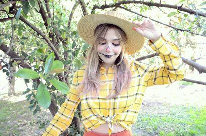 Blog-de-moda-Disfraces-para-halloween-Urvan-beauty-on-the-go-ChicAdicta-influencer-Chic-Adicta-disfraz-de-espantapajaros-PiensaenChic-Piensa-en-Chic