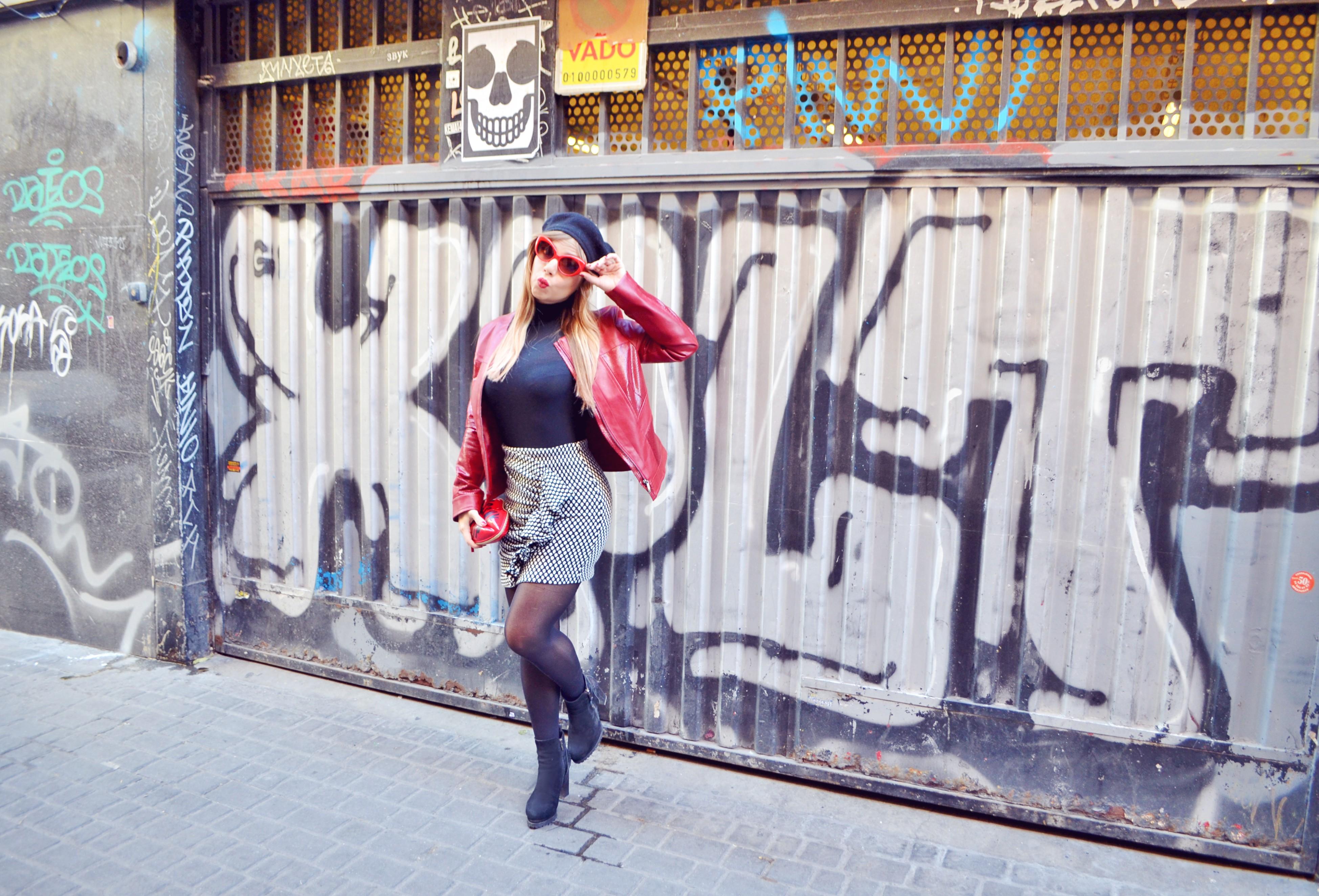 Arggido-ropa-blog-de-moda-ChicAdicta-fashionista-Chic-Adicta-influencer-Madrid-faldas-con-volantes-chupa-roja-PiensaenChic-Piensa-en-Chic