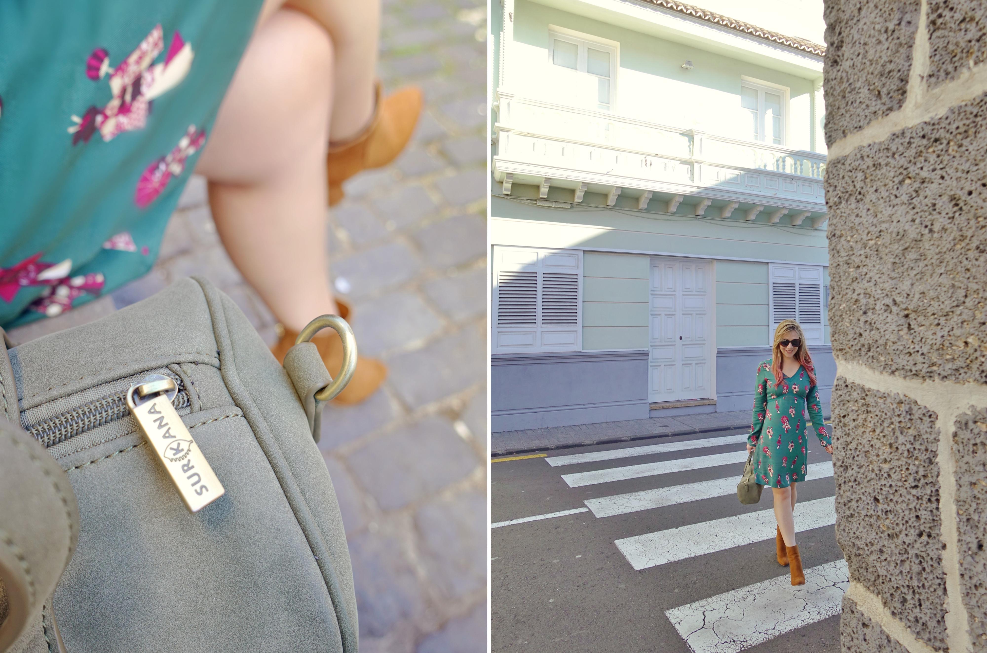 Bolsos-surkana-influencer-ChicAdicta-blog-de-moda-Chic-Adicta-look-verde-vestidos-estampados-PiensaenChic-Piensa-en-Chic