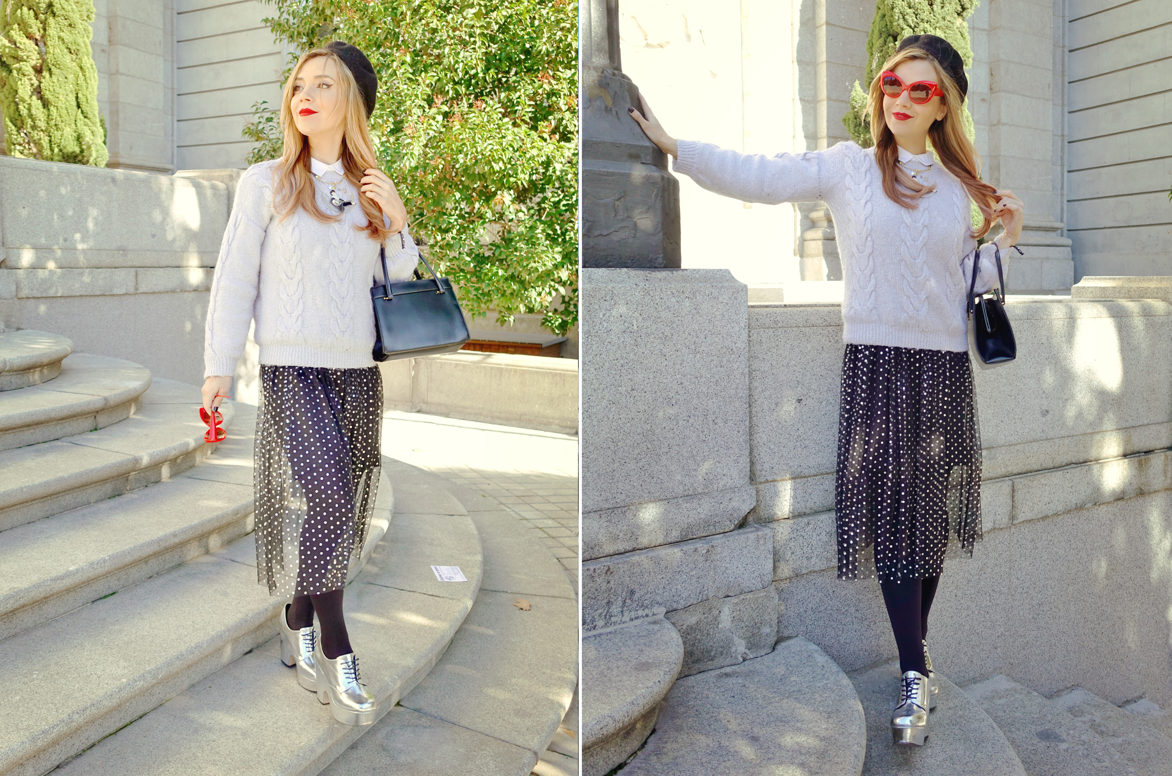 Blog-de-moda-ChicAdicta-fashionista-influencer-vestido-de-lunares-Primark-laliblue-accesorios-Madrid-PiensaenChic-Chic-Adicta-Piensa-en-Chic