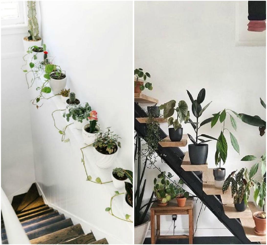 Decorar-escaleras-con-plamtas-blog-de-deco-PiensaenChic-influencer-Chic-adicta-cactus-Chic-adicta