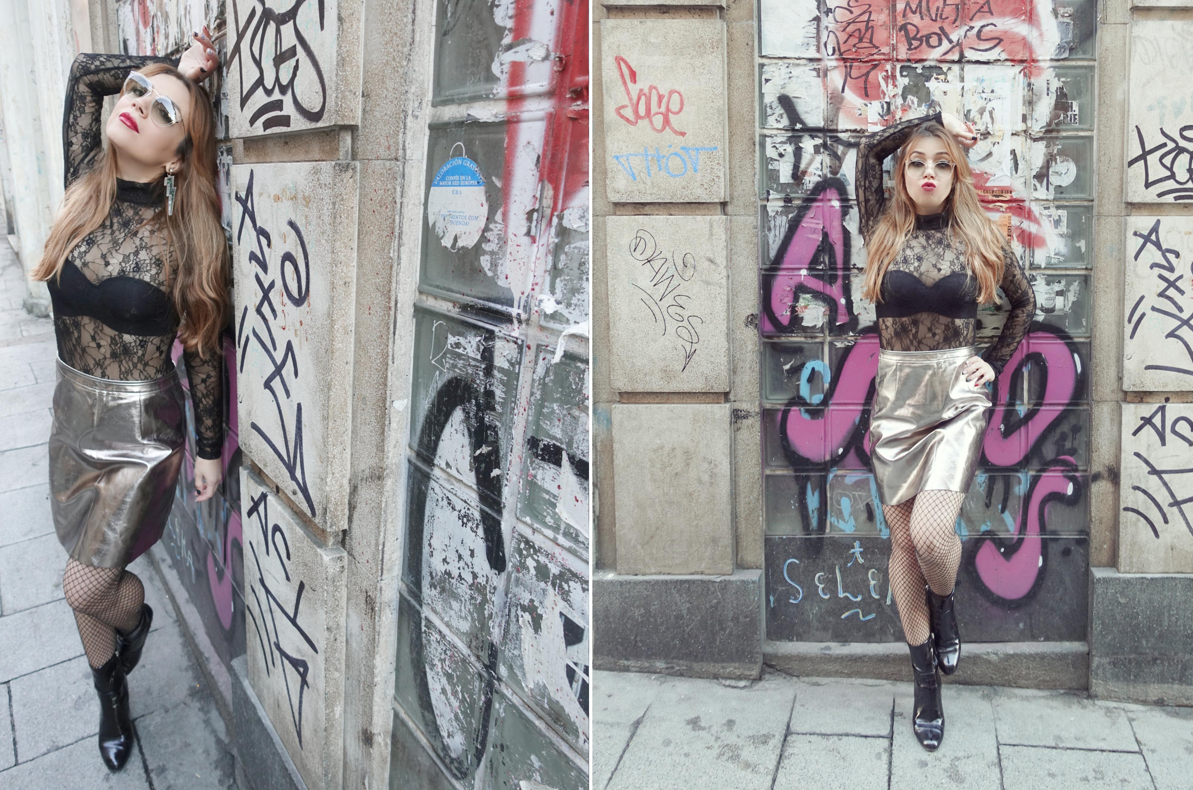 Looks-para-noche-vieja-blog-de-moda-Chicadicta-influencer-PiensaenChic-silver-skirt-falda-plateada-mollybracken-Chic-adicta-Piensa-en-Chic